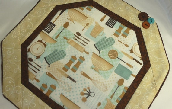 Quilted Retro Kitchen Mat