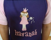 NEW design Personalized Girls princess apron