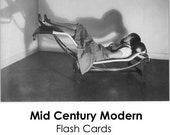 Brush up your Perriand, mid century modern flash cards, intermediate
