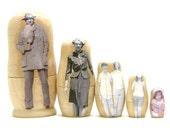 Custom Nesting Dolls, set of 5