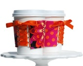 Floral Simpatico Cup Cozy - This Cozy is Reversible and Adjustable