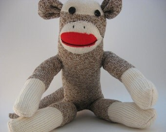 Custom traditional sock monkey - Please read ENTIRE listing before buying