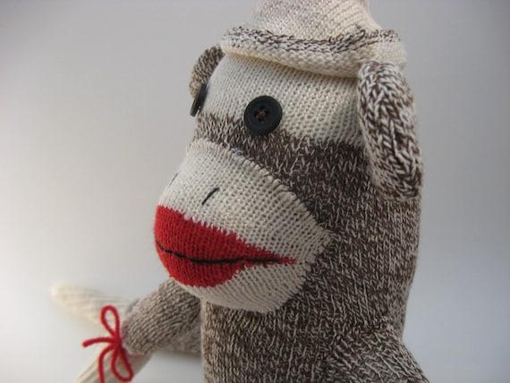 Yuletide sale - Vintage reproduction sock monkey