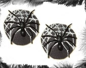 Spider Nipple Pasties, Gothic, Burlesque, in 3 sizes and 4 lace colours