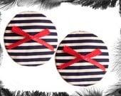 Nautical Stripe Nipple Pasties, Sailor, Burlesque Wear