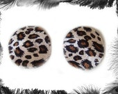 Leopard Print Nipple Pasties, Burleque Wear, Available in 3 Sizes and 3 Colours - Red, Pink, Original Leopard