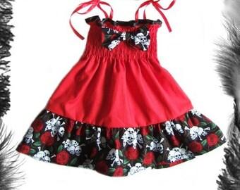 Alternative Baby Summer Dress, Gothic, Rockabilly