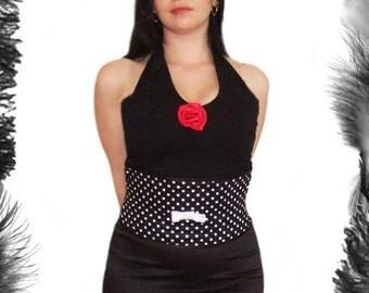 Polka Dot Waist Cincher, Corset, Rockabilly Wear, Any Size, Steel Boned, NEW Colours