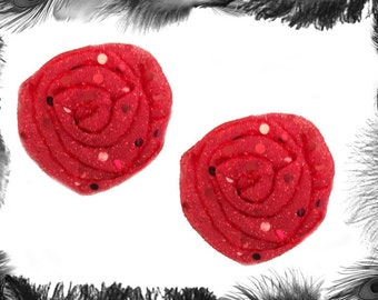 Sequin Rose Nipple Pasties, Burlesque Wear, in many colours