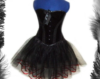 Full Circle Petticoat with Satin Trim, Rockabilly, Swing, many sizes and many colours available