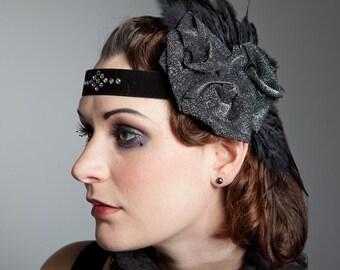 Swarovski Feather & Roses Flapper 1920s Headband