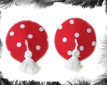 Polka Dot Nipple Tassels, Burlesque Wear
