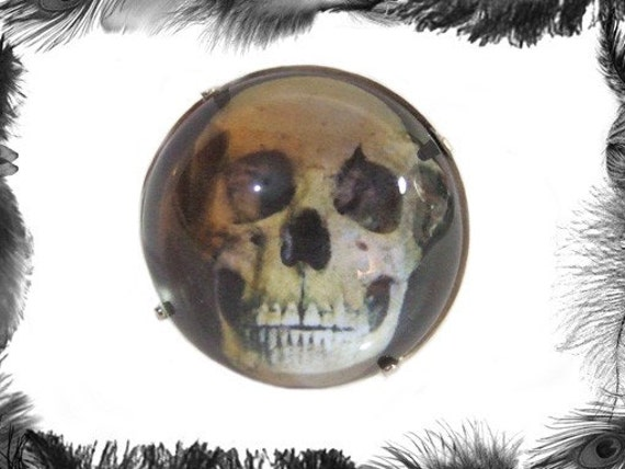Human Skull Ring, Horror, Gothic, Unisex, Fully Adjustable
