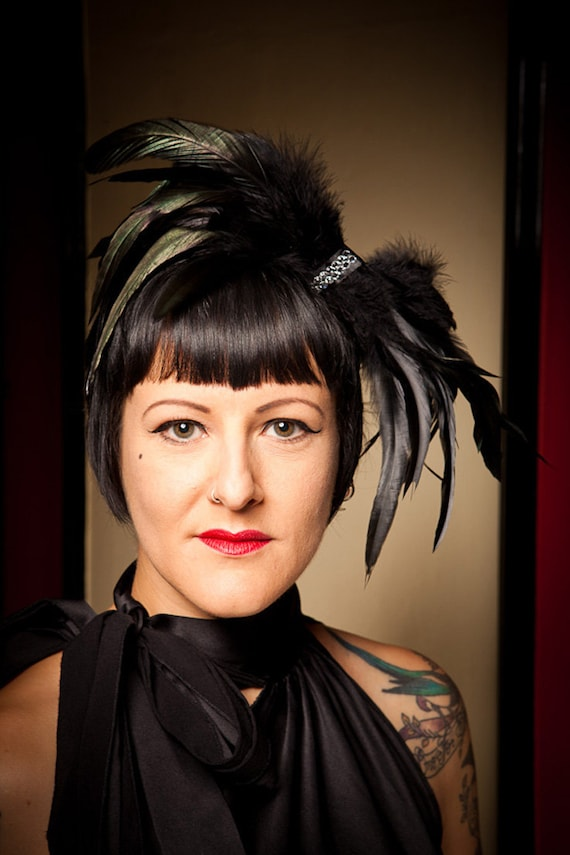 Swarovski and Feathers Bow Couture Fascinator