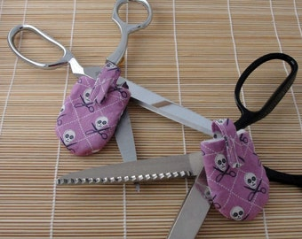 Scissor Crossbones HUSH PUPPY Dog Tag Covers