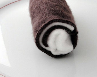 Squeaky Swiss Cake Roll Dog Toy for small dogs