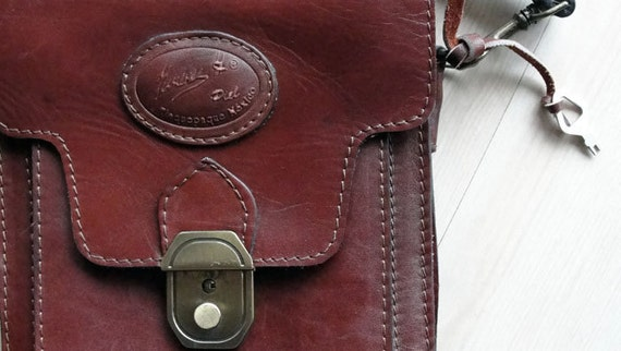SALE-10% OFF-Vintage Mexican Leather Purse/Steampunk Bag/Camera Bag with lock and key closure