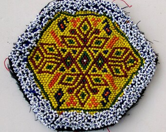 Tribal Beaded Patch, Afghanistan, Gul Beadwork 9