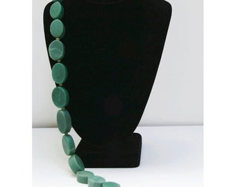 "Green Serpentine 17"" Bead Strand, 10mm Roundelles, Natural and Handcut, SERP4"