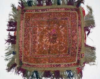 Antique Katawaz Embroidery:  Afghanistan Wedding Saddle Cover