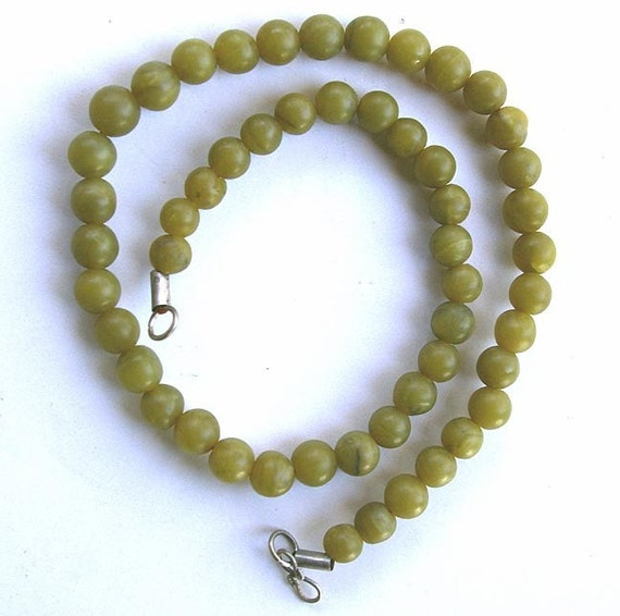 Shahmaqsud Jade Bead Strand, 6 mm Round, Natural and Handcut
