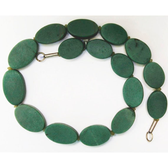 """Green Serpentine 17"""" Bead Strand, 10mm Roundelles, Natural and Handcut, SERP5"""