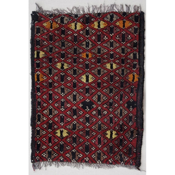 Small Knotted Carpet, Wool Training Rug from Afghanistan, Khal Mohamadi, Rug S1