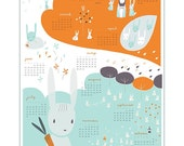 2011: year of the bunny rabbit calendar poster