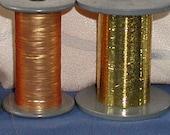 Vintage Kimono Thread - Metallic - Pink Gold - 50 Yards