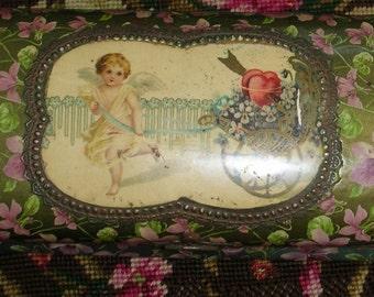 Victorian Glove Box - Precious Violets - Jewelry Box - Treasure