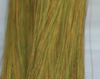 Urushi Lacquered Thread - Embellish - Embroider - Weave - Wheat to Gold to Green - 50 Yards
