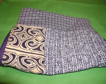 Vintage Kimono Cotton Clutch - Wristlet - Handbag