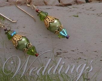 Calypso Green Earrings
