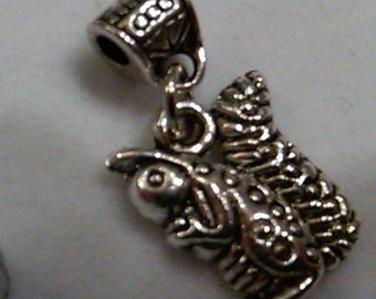 Closeout - 14 tibet silver squirrel charms with a 2mm opening bail