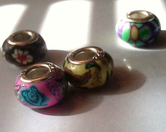 Closeout - 4 Fimo Beads