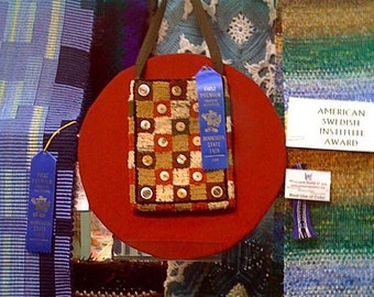 Checks and Buttons Minnesota State Fair Blue Ribbon Rug Hook Purse Pattern