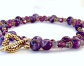 Amethyst and Swarovski Crystal Beaded Necklace