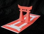 Torii Gate -- Pop-Up Card