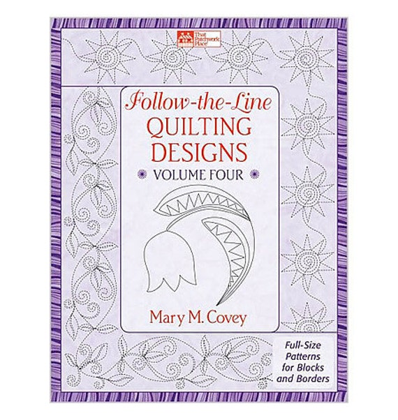 On Sale 25 Percent Off Follow the Line Quilting Designs Volume Four Full Size Patterns for Blocks and Borders