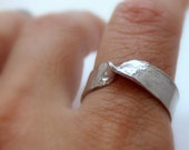 Mobius Strip Sterling Silver Ring