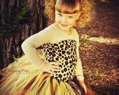 Leopard Print tulle tutu skirt