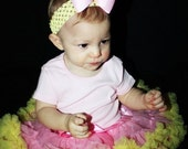 Close Out ....sz 3 to 5y Fluffy Pink and Yellow Petti Skirt ready to ship.. LAST ONE