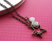 copper necklace - sun moon and stars - FREE SHIPPING