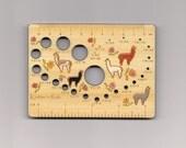 Alpaca Meadow Deluxe Knitters Rule Bamboo Needle Gauge