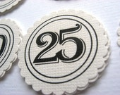 1 to 31 Numbered Scrapbooking Tags