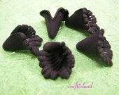 12pc acrylic flower shape bead-1123-BLACK