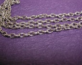 5 feet antique silver finish 5x3mm cross chain-1371