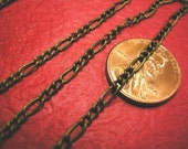 5 feet antique bronze mother and son chain-3459