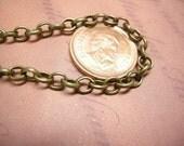 5 feet 5x4mm antique bronze cross chain-4040