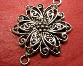 2pc antique silver Flower Chandelier Links-3850